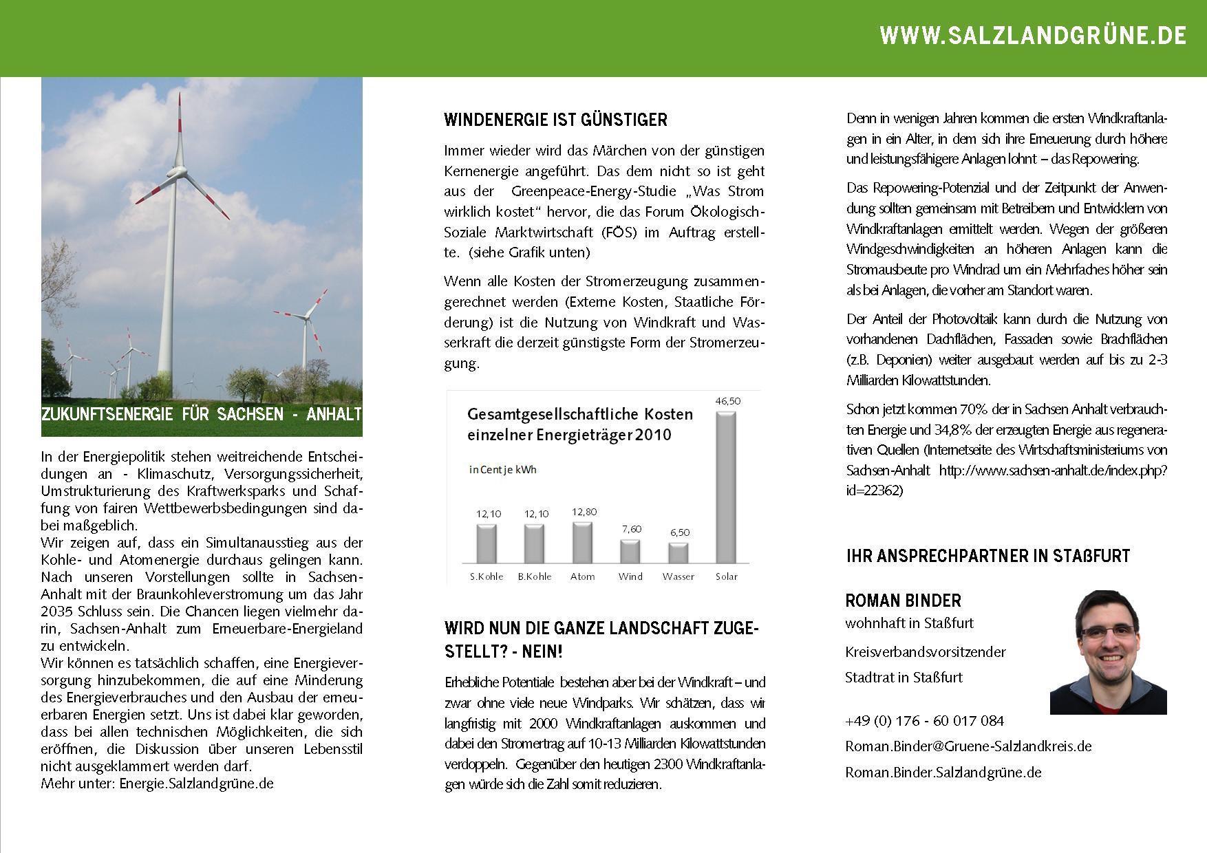 Zukunftsenergie für Sachsen Anhalt
