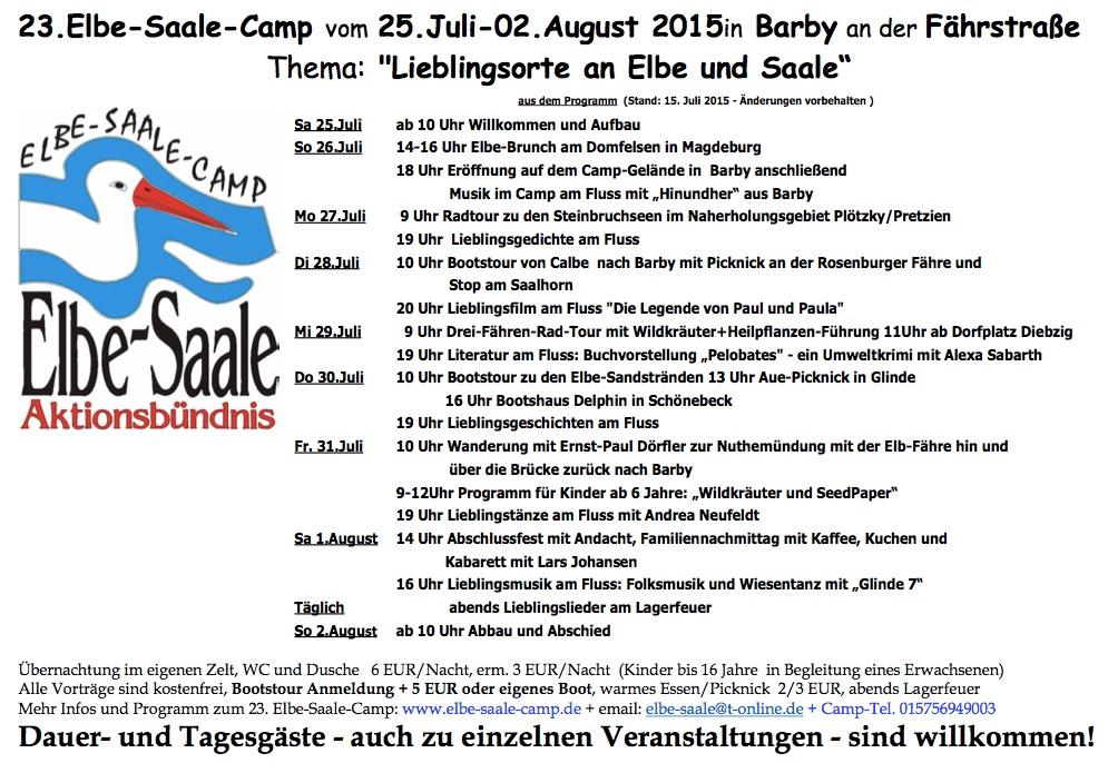 Veranstaltungstipp: Das 23. Elbe-Saale-Camp in Barby