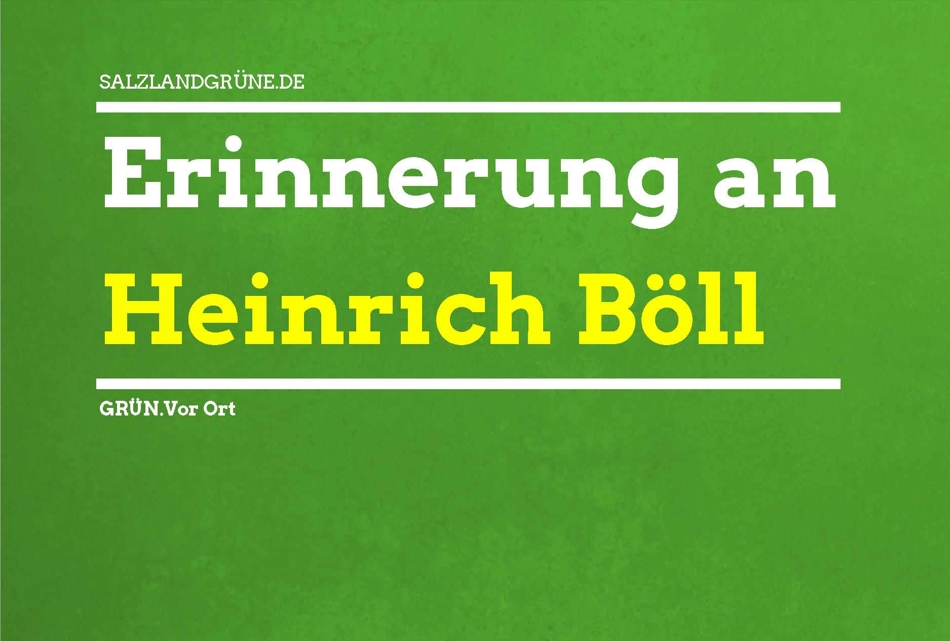 Erinnerung an Heinrich Böll