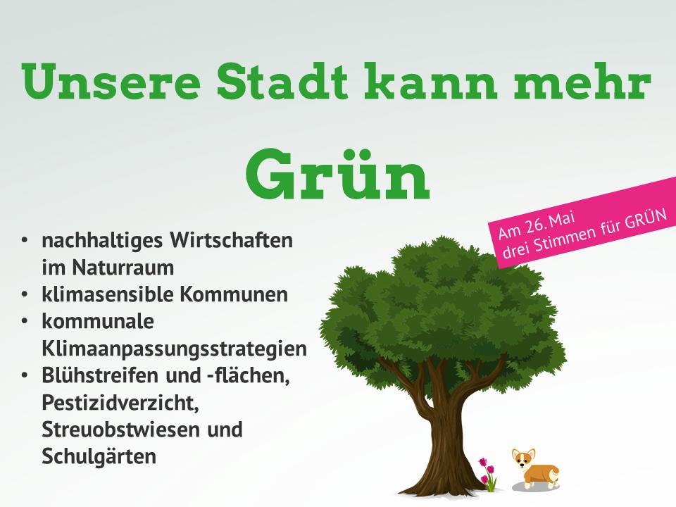 Unsere Stadt kann mehr Grün